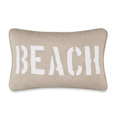 Solid Seashell Blue Oblong Toss Pillow