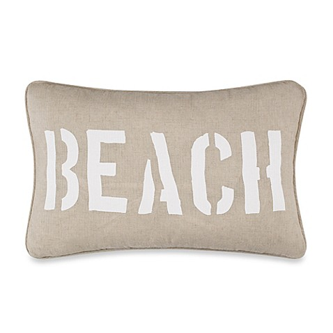Solid Seashell Blue Oblong Throw Pillow