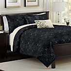 Medallion Reversible Quilt Set in Black