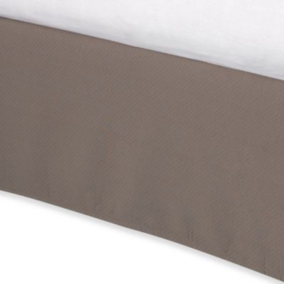 Diamond Matelasse Tailored Twin Bed Skirt in Taupe