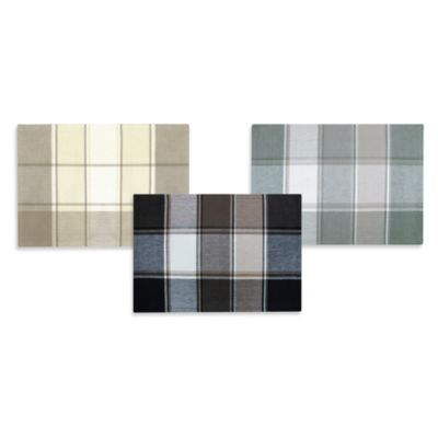 Park B. Smith Block Buster 4 Pack Placemats in White/Navy