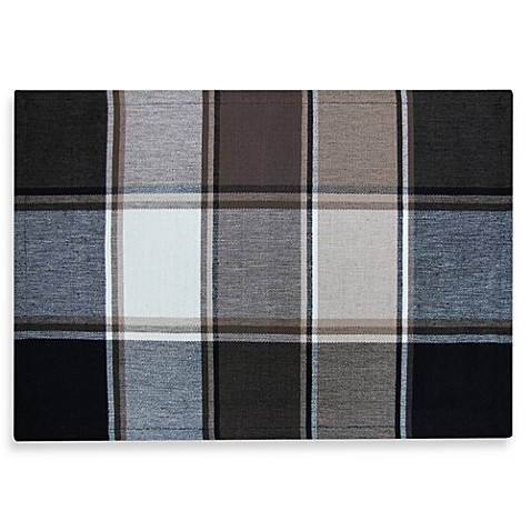 Park B. Smith Block Buster 4 Pack Placemats in Black