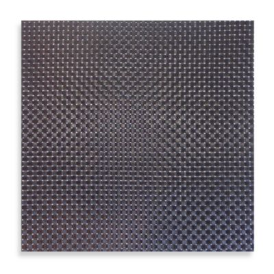 Bistro Square Vinyl Placemat in Black