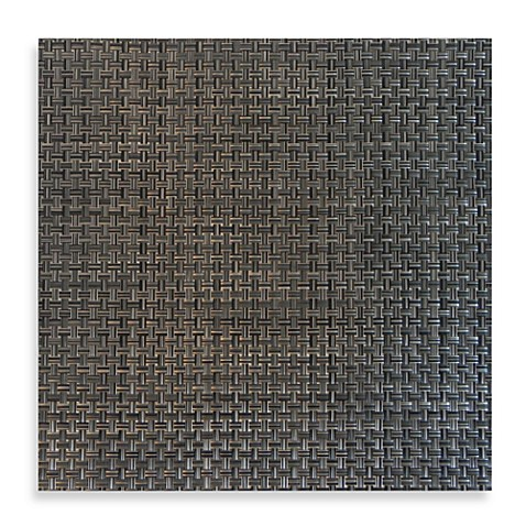 buy bistro square vinyl placemat in pewter from bed bath beyond. Black Bedroom Furniture Sets. Home Design Ideas