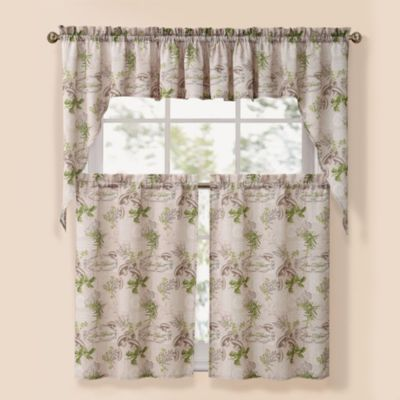 Bon Appetite Natural Window Curtain Tier Pairs