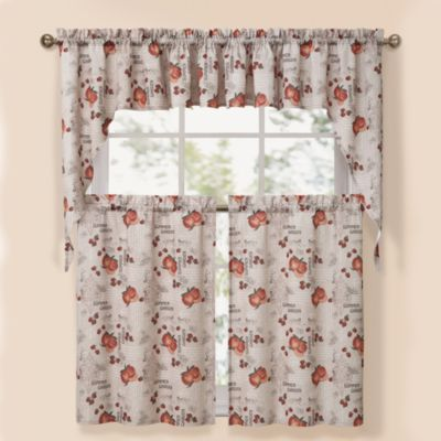 Summer Garden Natural Window Valance