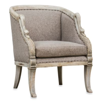 Uttermost Wood Swan Arm Chair