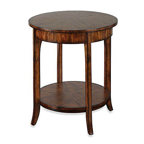Uttermost Carmel Wood Round Lamp Table