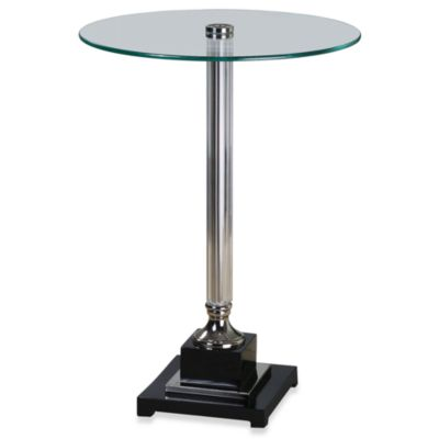 Uttermost Senia Glass Top Accent Table