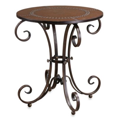 Uttermost Lyra Round Metal Accent Table