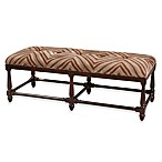 Uttermost Zebring Wood Upholstered Bench