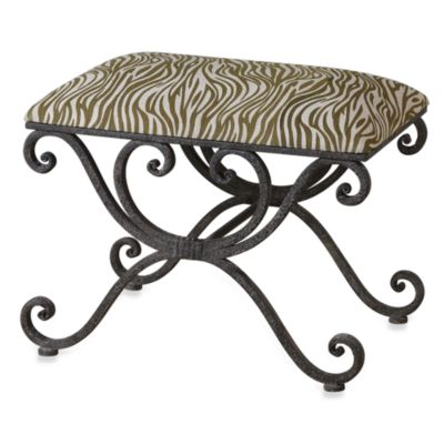 Uttermost Aleara Wrought Iron Small Bench