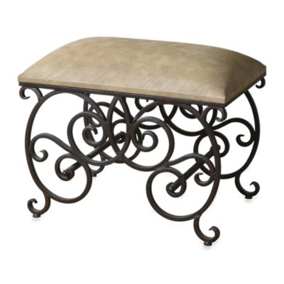 Uttermost Anjali Forged Metal Small Bench