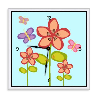 Green Leaf Art Garden Flowers Decorative Art Clock