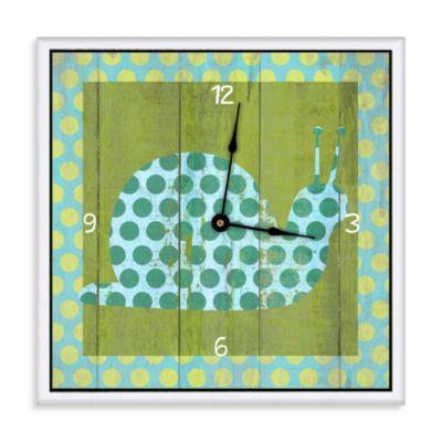 Green Leaf Art Green Decorative Art Clock
