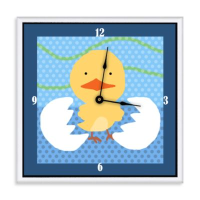 Green Leaf Art Baby Chicken Decorative Art Clock