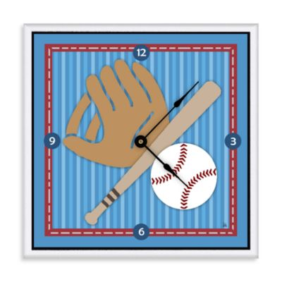 Green Leaf Art Baseball Decorative Art Clock