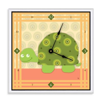 Green Leaf Art Baby Turtle Decorative Art Clock