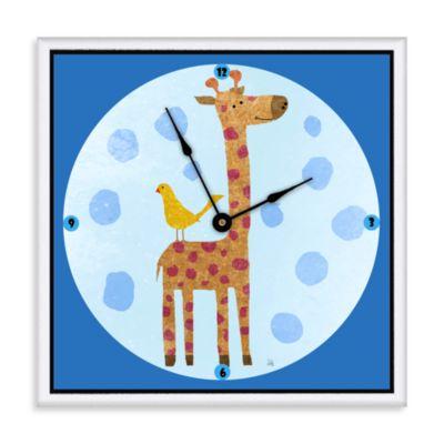 Green Leaf Art Giraffe & Bird Decorative Art Clock