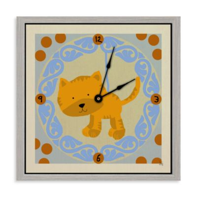 Green Leaf Art Little Lion Decorative Art Clock