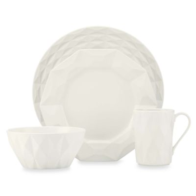 kate spade new york Cream 4-piece Castle Peak Place Setting