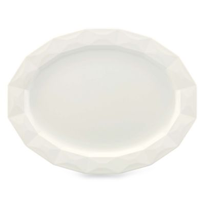 kate spade new york Cream 16-Inch Castle Peak Cream Oval Platter