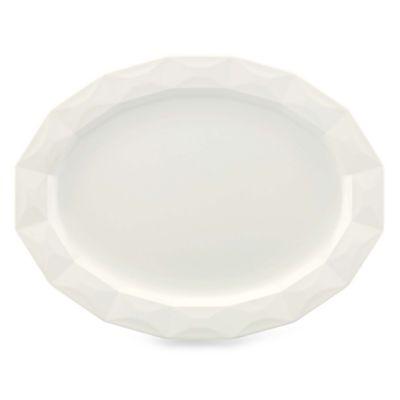 kate spade new york Castle Peak™ 16-Inch Oval Platter in Cream