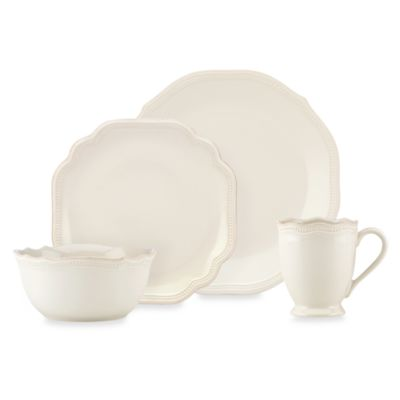 Lenox® French Perle Bead White 4-Piece Place Setting