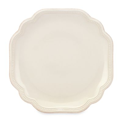 French Perle Bead Accent Plate in White