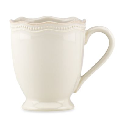 Lenox® French Perle Bead White 12-Ounce Mug