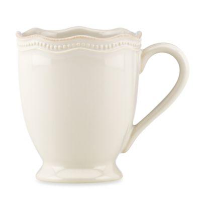 Lenox® French Perle Bead 12 oz. Mug in White