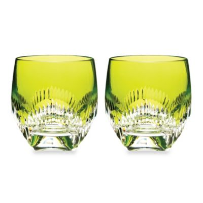 Waterford® Mixology Neon Lime Double Old-Fashioned Glass - Set of 2