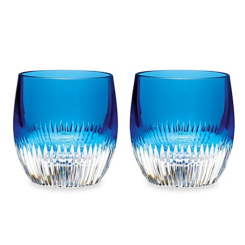 Waterford® Mixology Argon Blue Double Old-Fashioned Glass - Set of 2