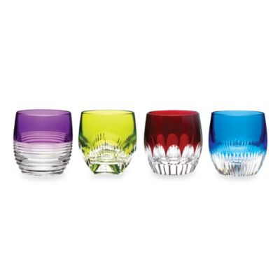 Waterford® Mixology Mixed Double Old-Fashioned Glasses in Assorted Colors (Set of 4)