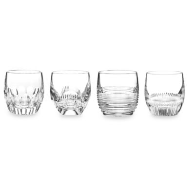 Waterford® Mixology Mixed Clear Double Old-Fashioned Glass (Set of 4)