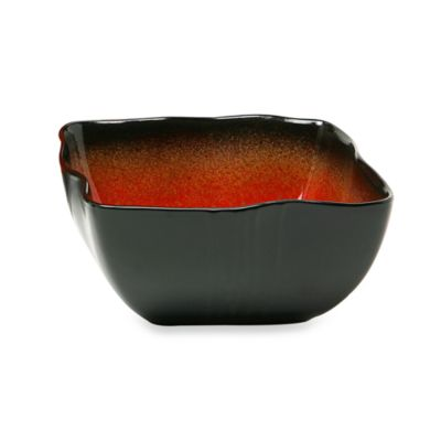 Galaxy Red Square 6-Inch Soup Bowls (Set of 6)