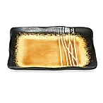 Baum Galaxy Square Appetizer Plates in Amber (Set of 12)