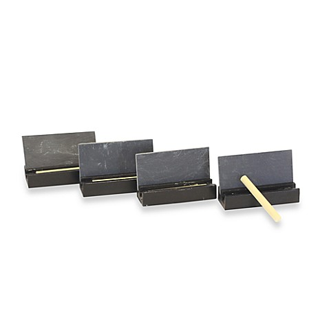 Baum Slate Place Cards Set With Chalk