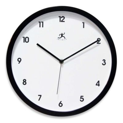 Infinity Instruments Cirrus Wall Clock in Black
