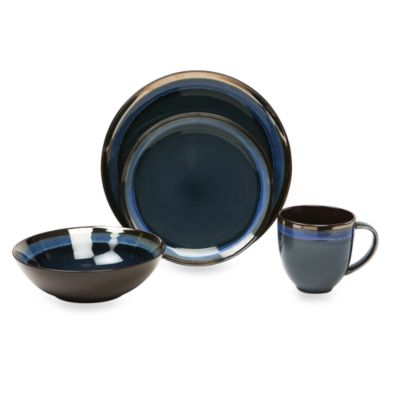 Baum Compass 16-Piece Dinner Set in Cobalt