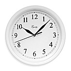 La Crosse® Equity White Scoop Analog Wall Clock