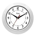 La Crosse® White Ribbed Equity Analog Wall Clock