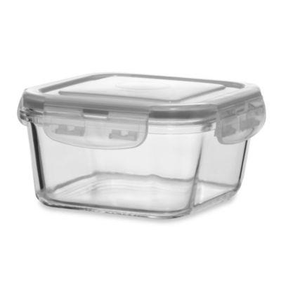 Store N' Lock Square 40.9-Ounce Storage Container