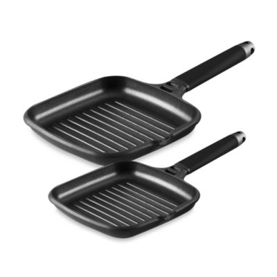 Fundix by Castey Grill Pans with Removable Black Handle