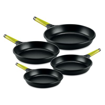 Fundix by Castey Fry Pans with Removable Kiwi Handle