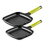 Fundix by Castey Grill Pans with Removable Kiwi Handle