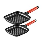 Fundix by Castey Grill Pans with Removable Red Handle
