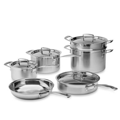 Le Creuset® Stainless Steel 10-Piece Cookware Set
