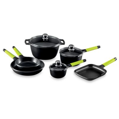 Fundix by Castey Cast Aluminum 9-Piece Cookware Set in Kiwi