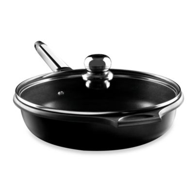 Fundix by Castey Cast Aluminum Saute Pan in Stainless Steel